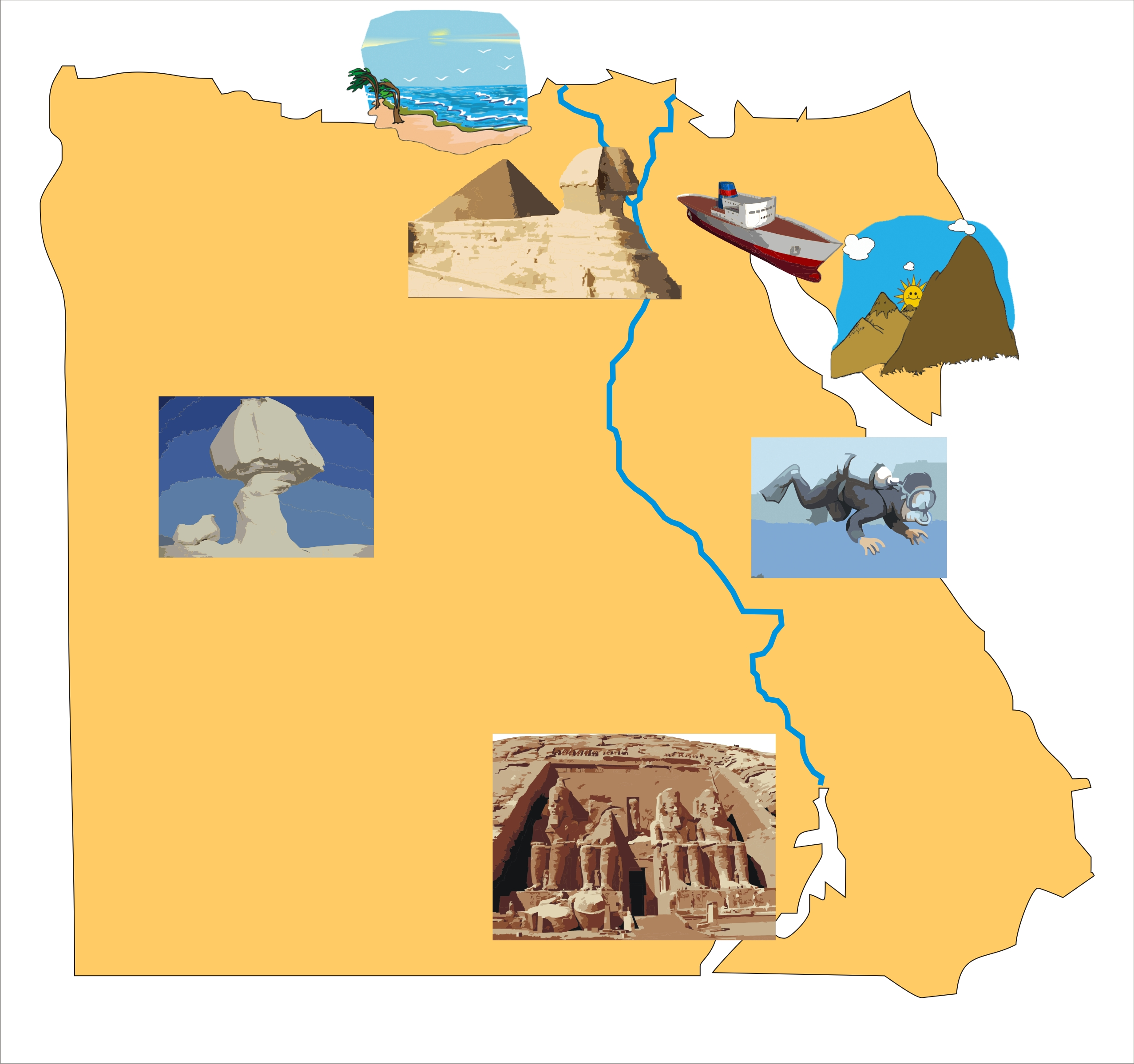 Namaste Egypt Your Indian Connection To Egypt - Map of egypt holiday resorts